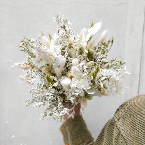 Bouquet fleurs séchées jade