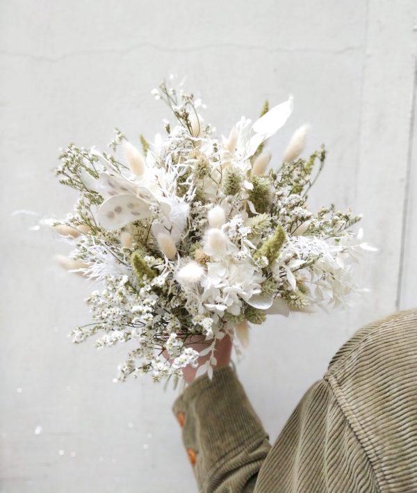 JADE-Bouquet de fleurs séchées jade