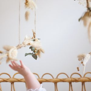 Mobile enfant fleurs