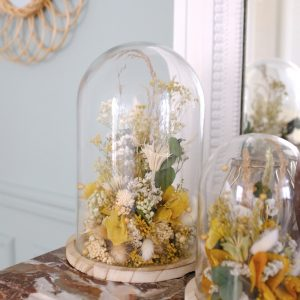 globe fleuri fleurs séchées