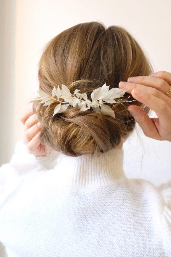 Peigne Romane en fleurs éternelles
