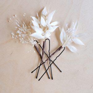 épingle mariage fleurs séchées